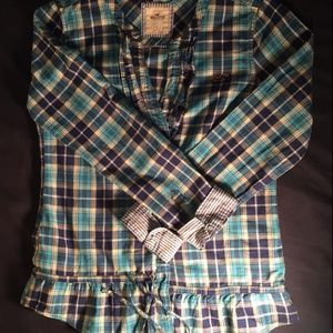 Hollister Shirt Blue Long Sleeve